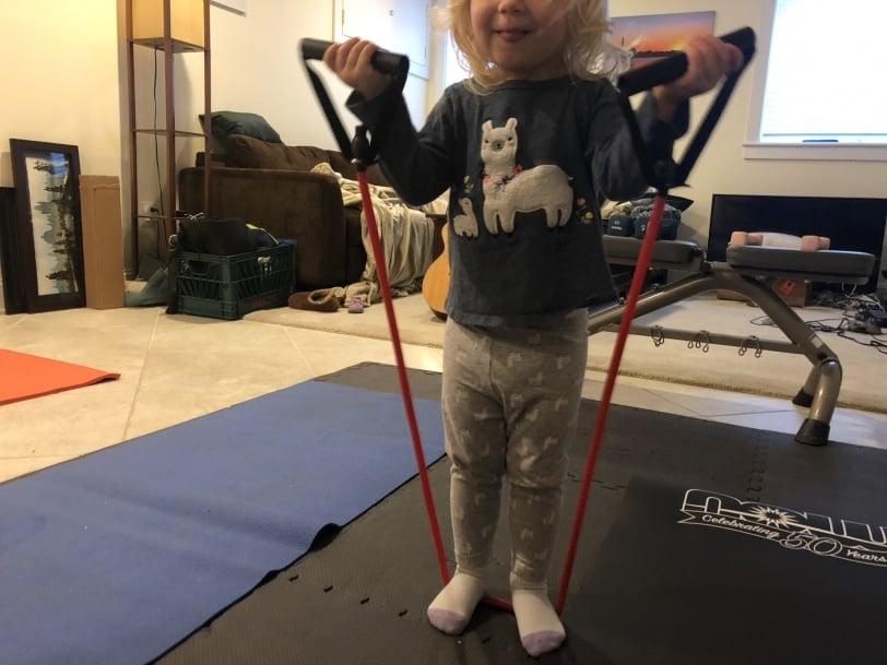 toddler exercising