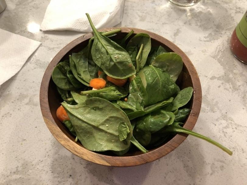 side salad to start dinner