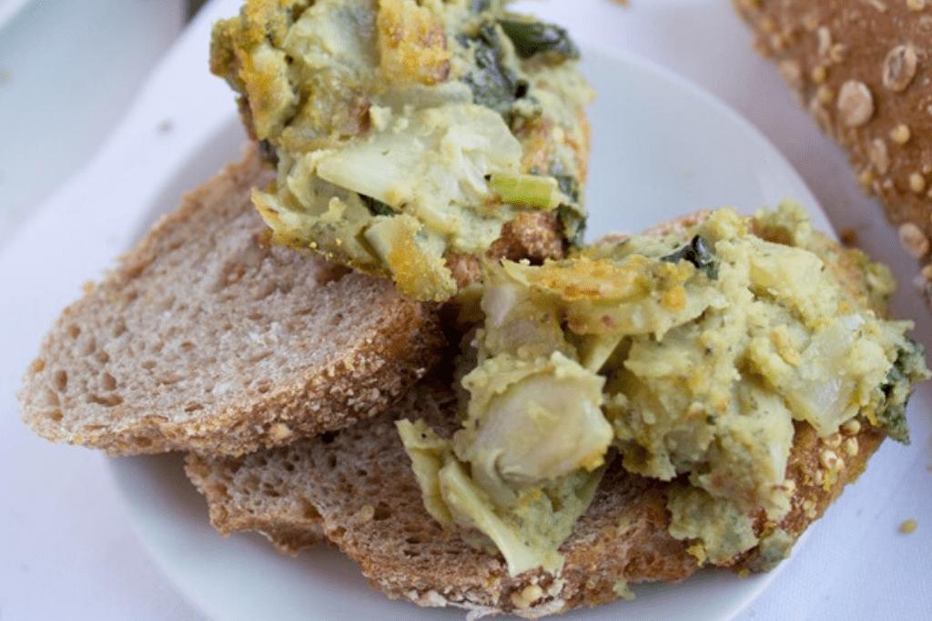 vegan kale artichoke dip