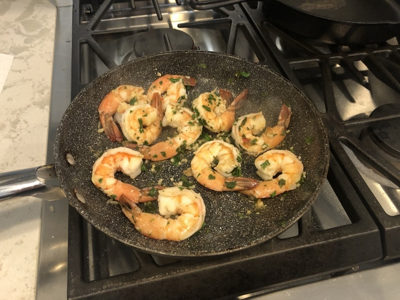 shrimp with parsley and garlic