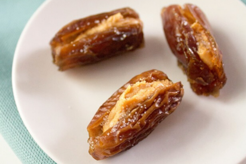 nut butter stuffed dates
