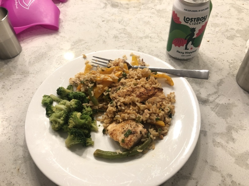 leftover salmon with frozen broccoli