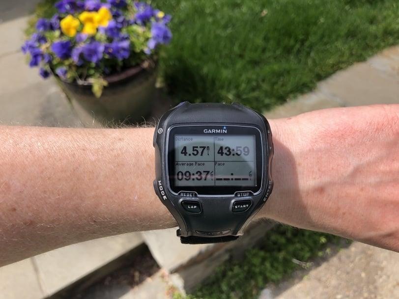 4.5 ish mile run watch photo