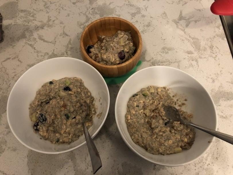 easy oatmeal times 3