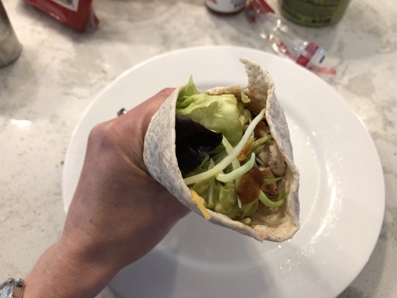 yummy homemade mexican wrap