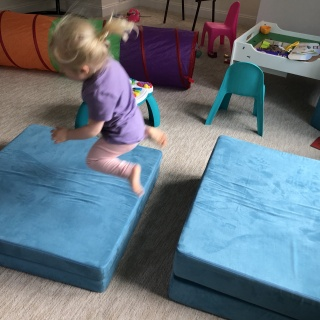 toddler jumping