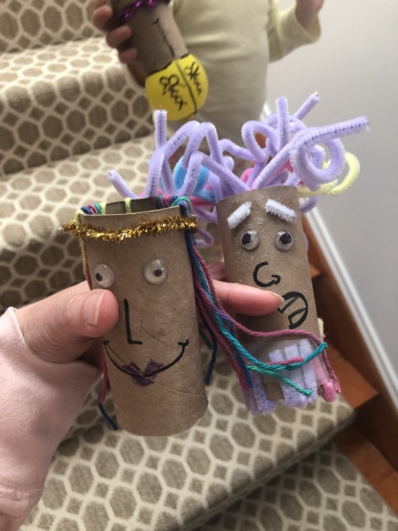 fun craft to do with kids using a toiler paper roll
