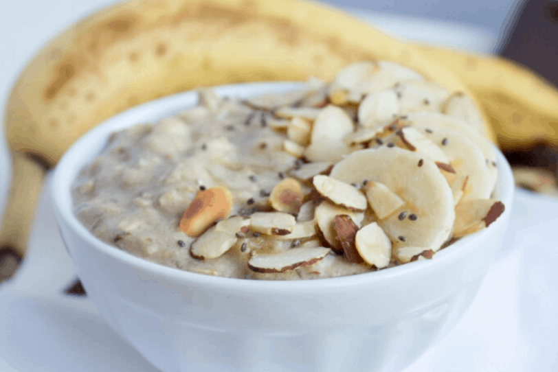 high protein banana oatmeal