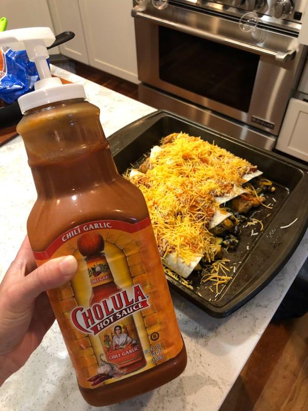 chili garlic cholula massive bottle