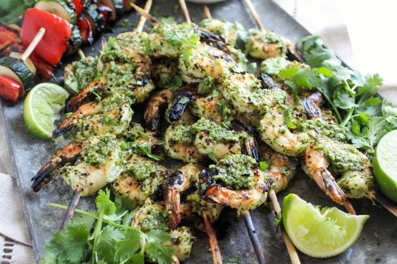 chimichuri griled shrimp