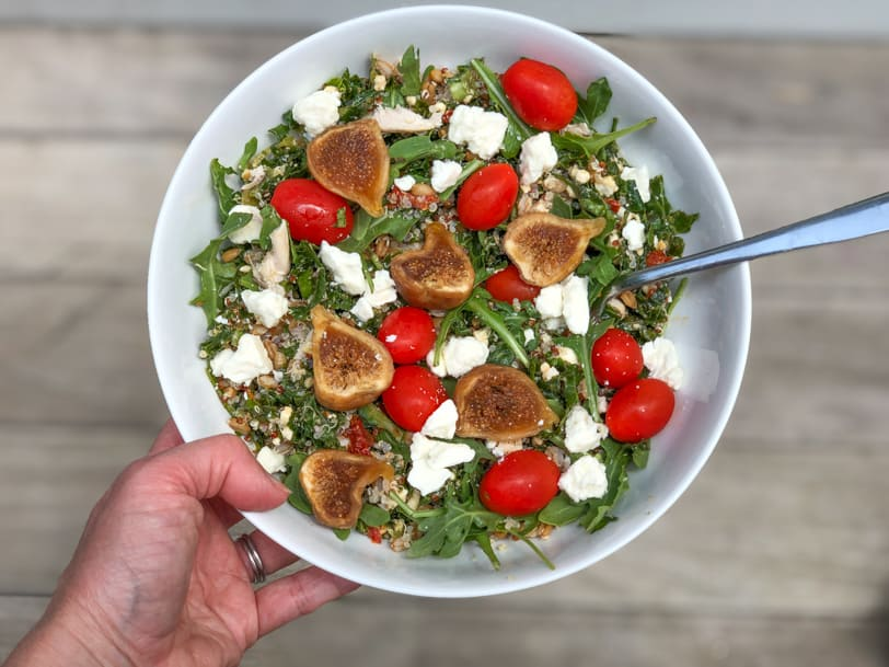 fig grain salad bowl