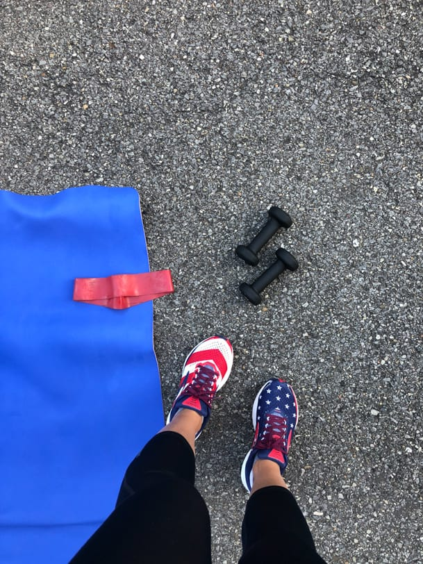 outdoor workout class in sewickley