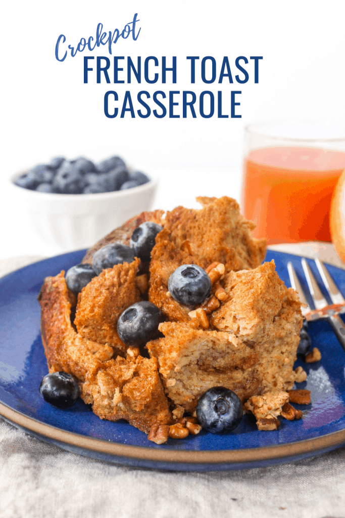 Overnight Crockpot French Toast Casserole