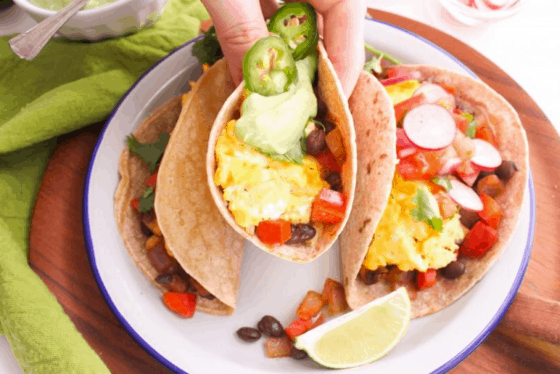 breakfast tacos with veggies