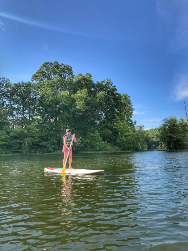stand up paddleboarding from lake ridge marina