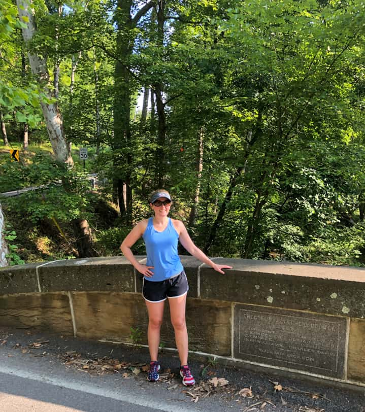 standing next to a bridge in sewickley