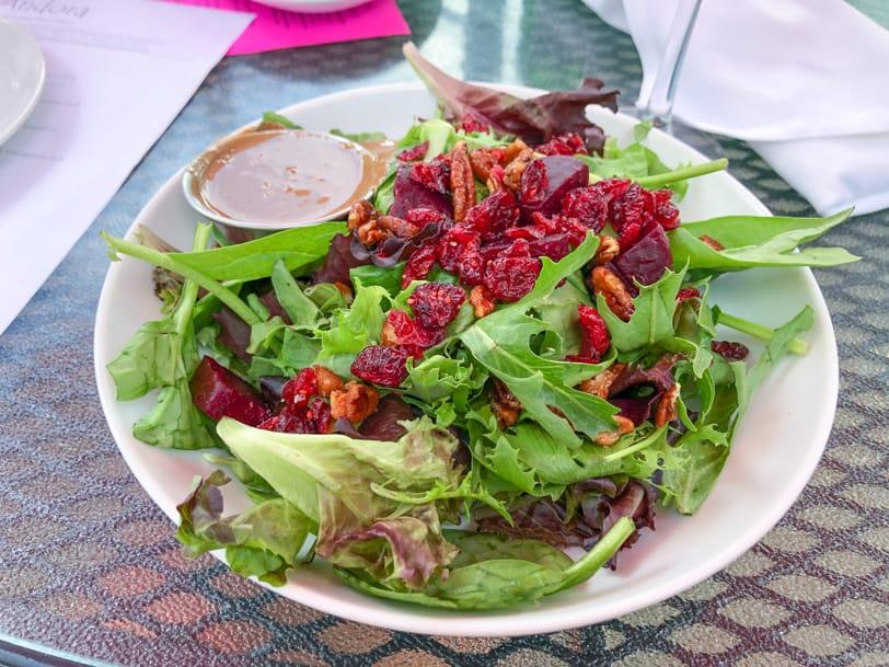 beet salad from andora restaurant near pittsburgh
