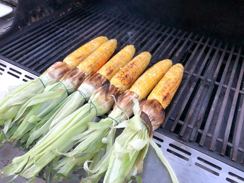 cooking corn on the grill