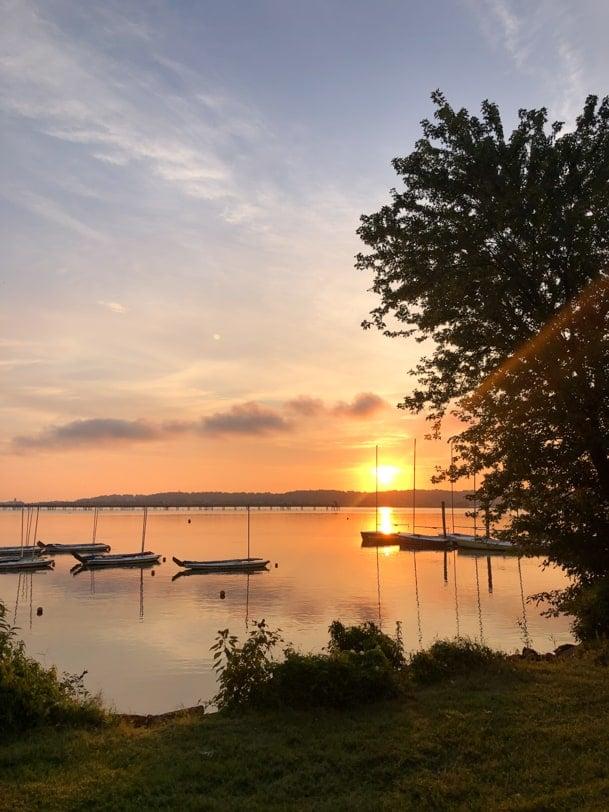 sunrise at daingerfield marina
