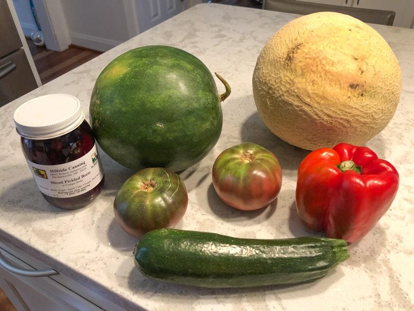 veggies from the farmer's market