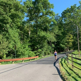running on a country road near sewickley pa