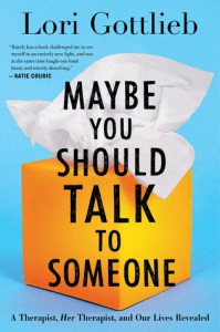 book cover: maybe you should talk to someone