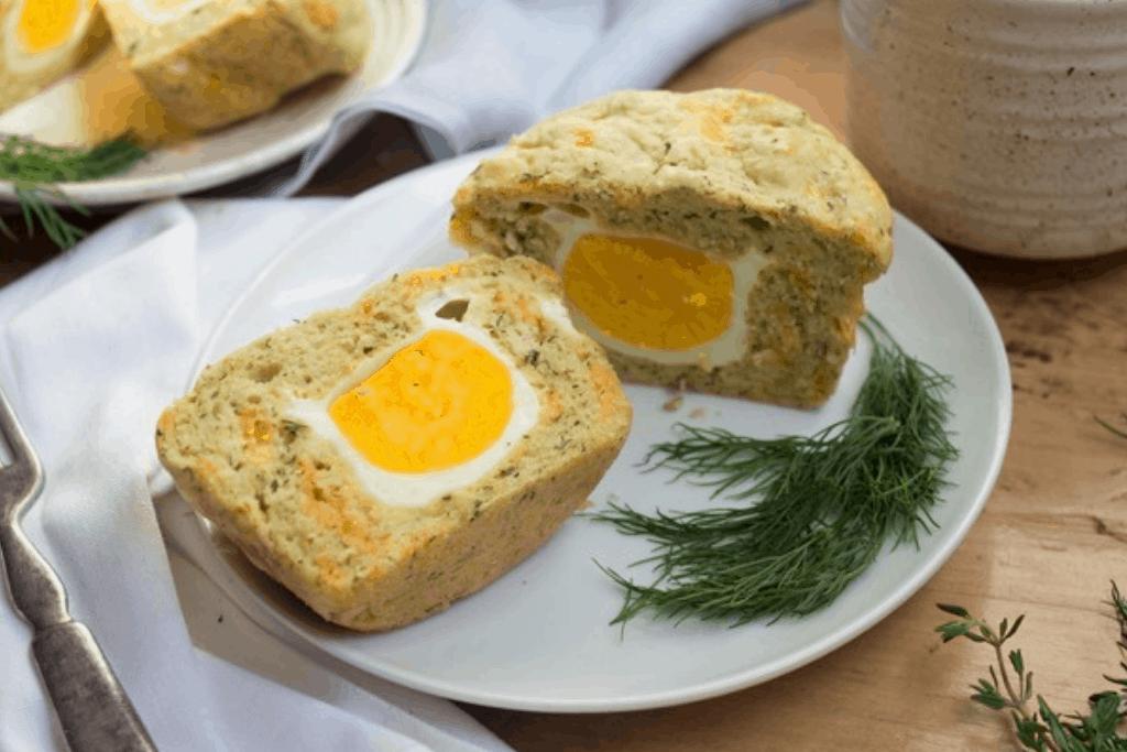 hard-boiled egg & cheddar muffins