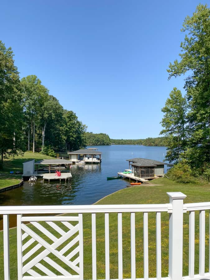 house rental view of the water lake anna