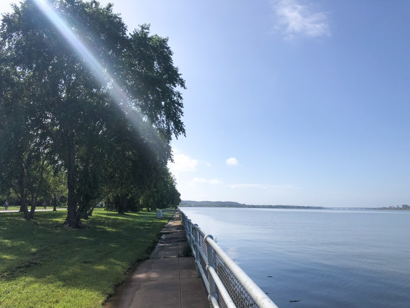 view of the water from hains point