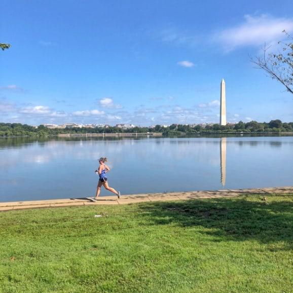 running around the DC tidal basin