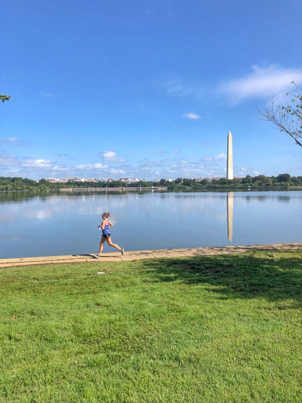running around the DC tidal basin