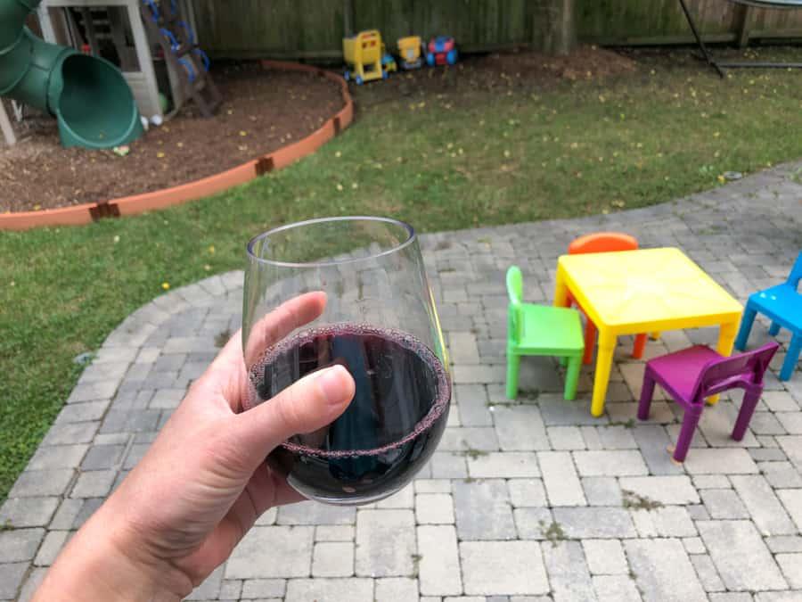 cute plastic wine glass
