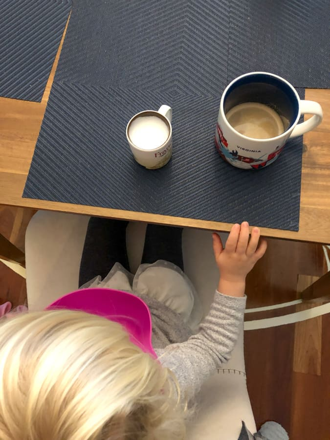 latte with a toddler