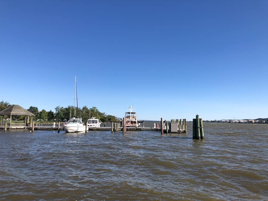 view of the waterfront from old town alexandria