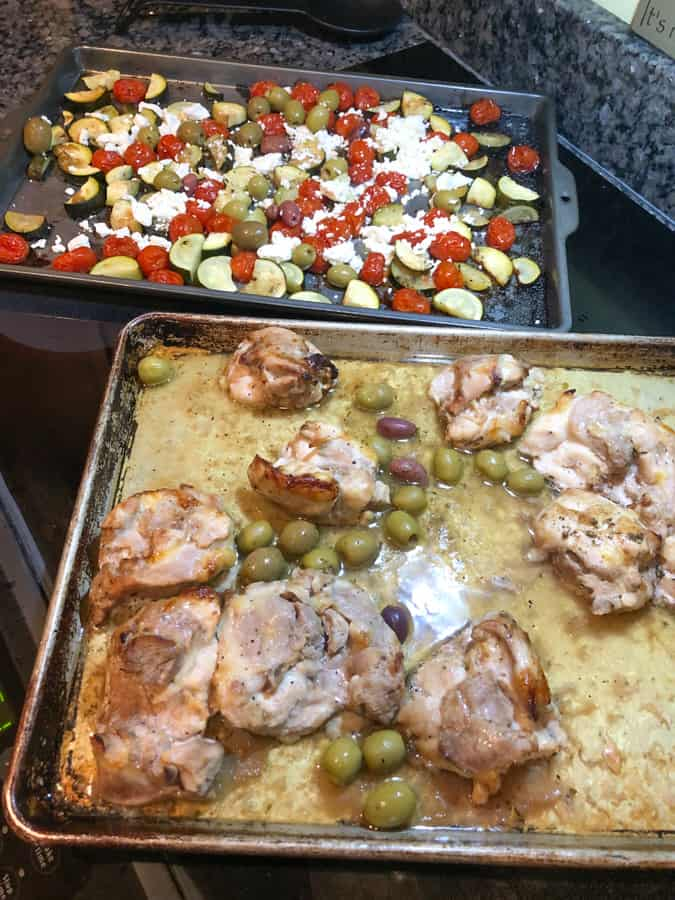 mediterranean chicken with veggies