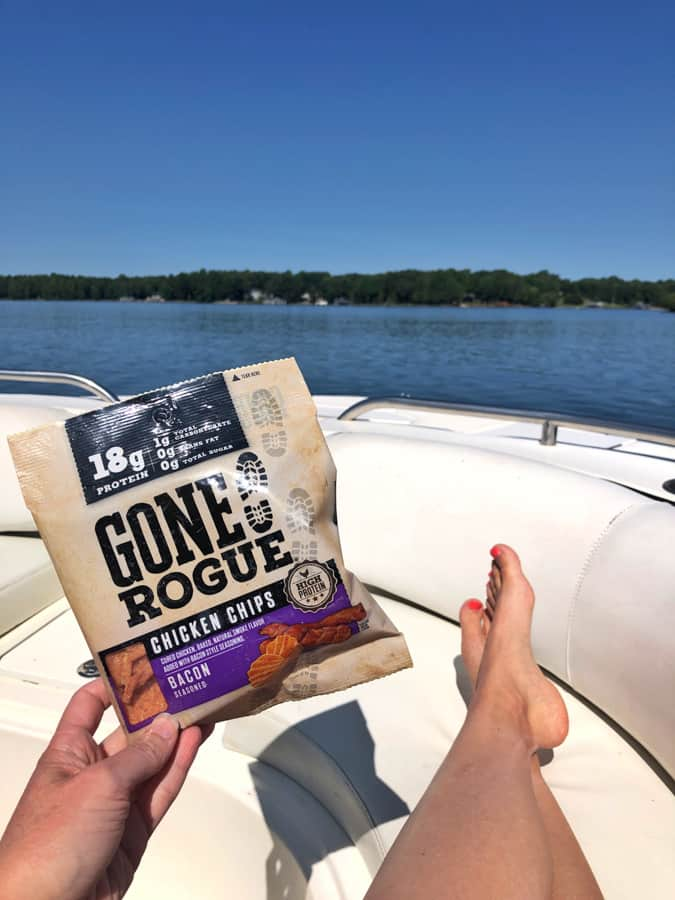 gone rogue high protein chips on a boat