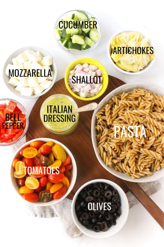 Italian pasta salad ingredients