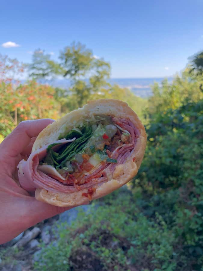 italian sub with a view