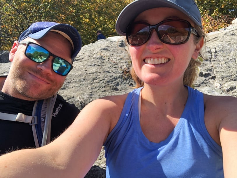 rock scramble selfie