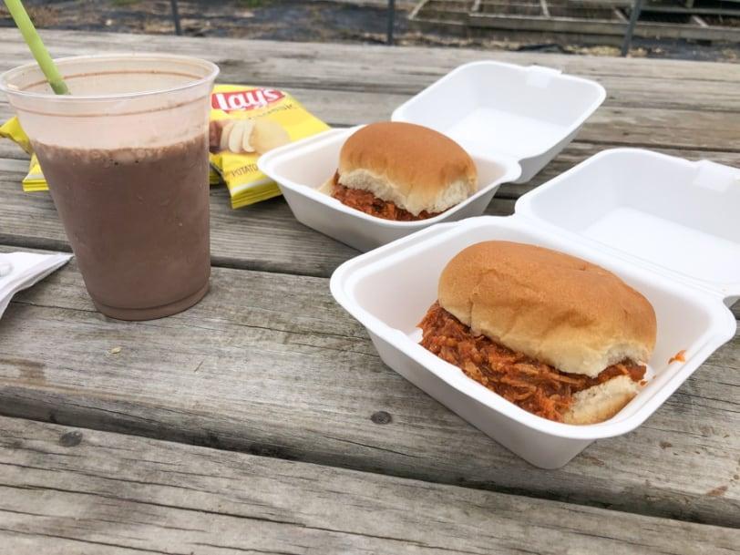 schlagel farms lunch options bbq