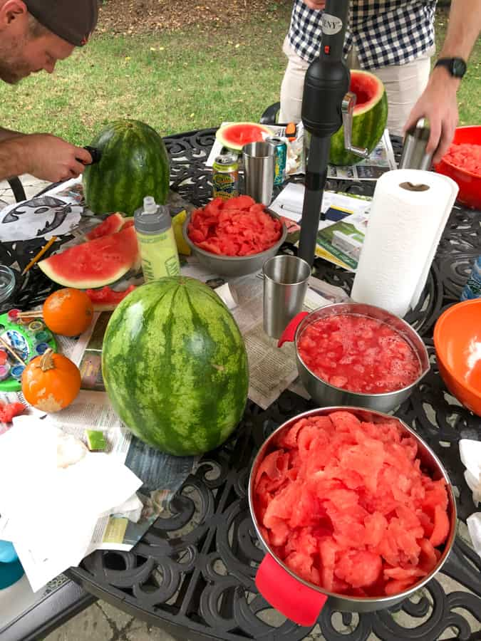 carving watermelons for halloween