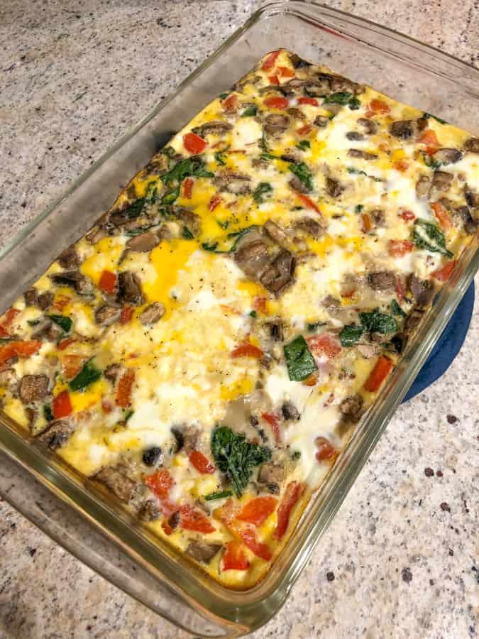 homemade veggie frittata
