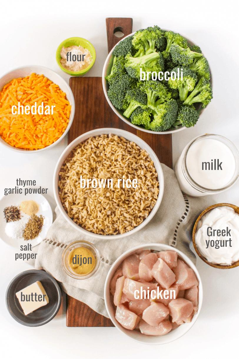 chicken broccoli rice casserole ingredients