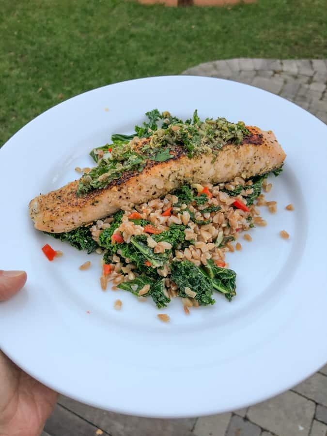 blue apron salmon