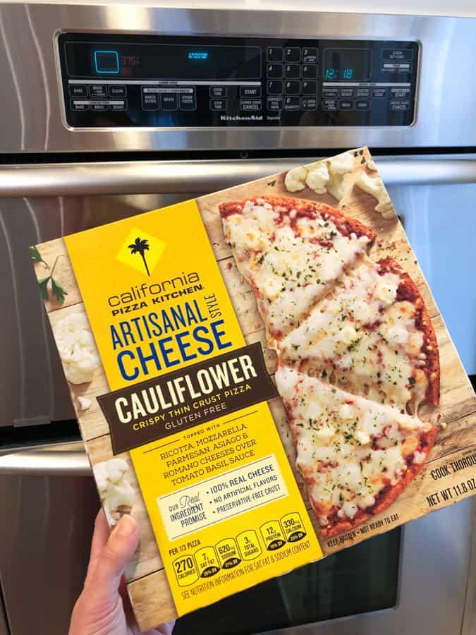 cpk cheese pizza cauliflower crust