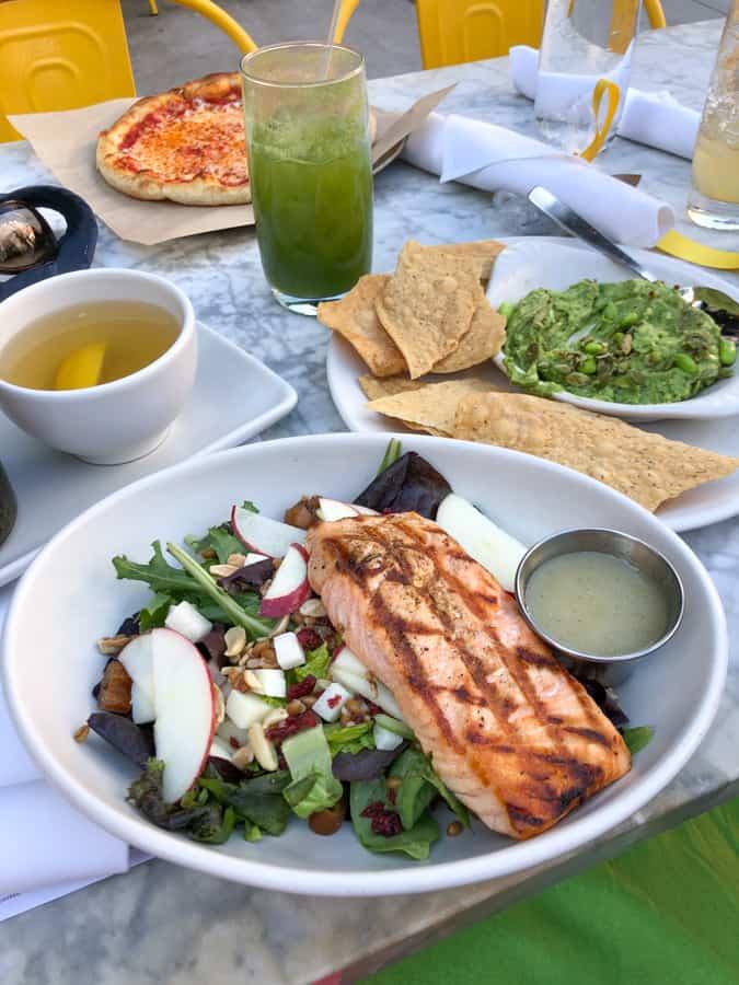 true food kitchen salmon salad and guacamole
