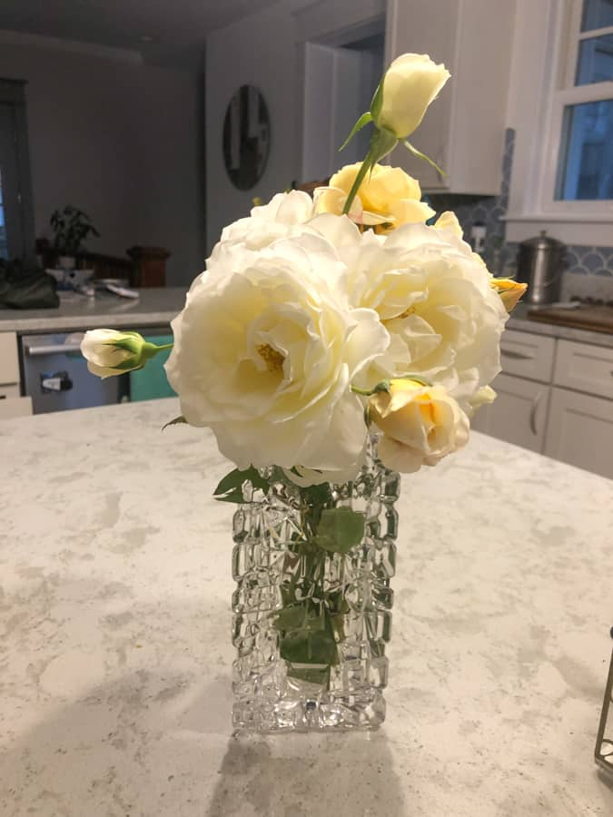 white roses from our garden