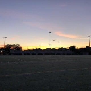sunrise view from the washington liberty high school track