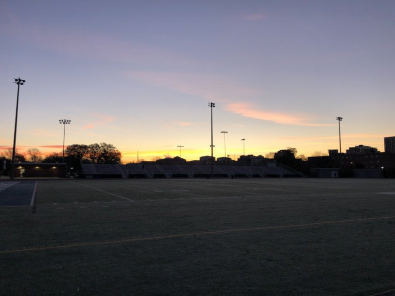 sunrise view from the washington liberty high school track