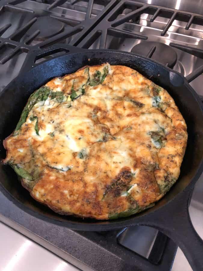 veggie frittata with cheese